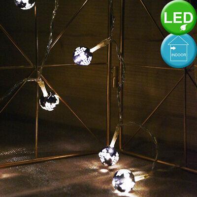 LED Bola Luces Cadena Navidad Árbol Iluminación Salón Habitación Decoración Luz