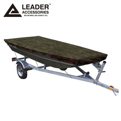 Leader Accessories Camouflage Jon Boat Cover 10'-12'L Beam width to 48''
