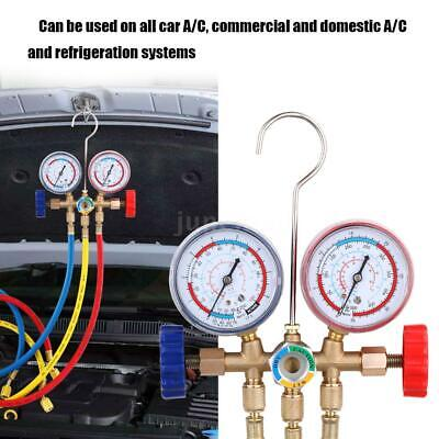 Refrigerant Manifold Gauge Set Air Conditioning Tools with Hose and Hook X1D1