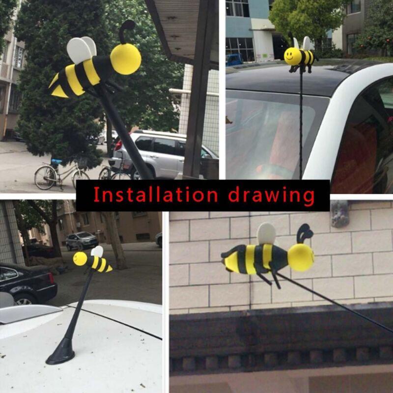 1 Piece Smiley Honey Bumble Bee Car Antenna Topper Funny EVA Aerial Ball Decor