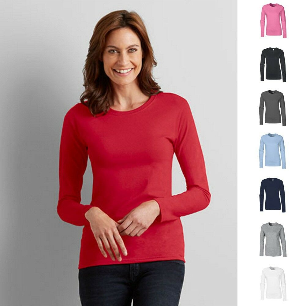Gildan Lady Fit Ladies Damen Long Sleeve Longsleeve Langarm T-Shirt S-XXL