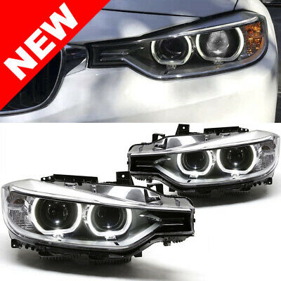 2012-2015 BMW F30 3-Series Helix Projector Headlights w/ LED DRL For Halogen H7