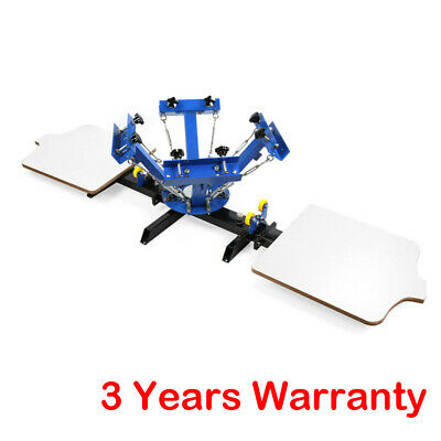 For Diy T-shirt Fabric Printing 4 Color 2 Station Silk Screen Printing Machine