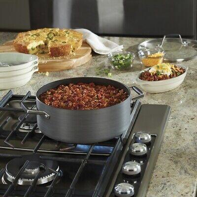 Non Stick Dutch Oven 5 Quart Hard Anodized Aluminum Kitchen Nonstick Cooking Pot Calphalon Non Stick Oven
