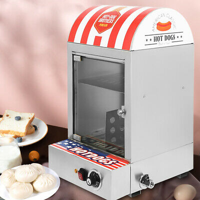 1500w Commercial Electric Hot Dog Steamer Machine 30-110 Sausage Warmer 110v