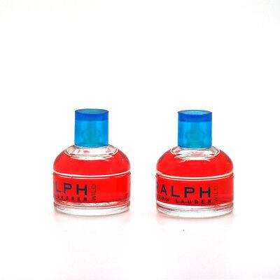 Ralph Wild by Ralph Lauren 0.25 oz EDT Mini Splash for Women Unbox (Lots of 2)