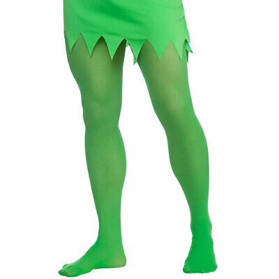 Grün Elfe Strumpfhose Herren Weihnachten Grinch Kostüm - Nylon Herren Kostüm