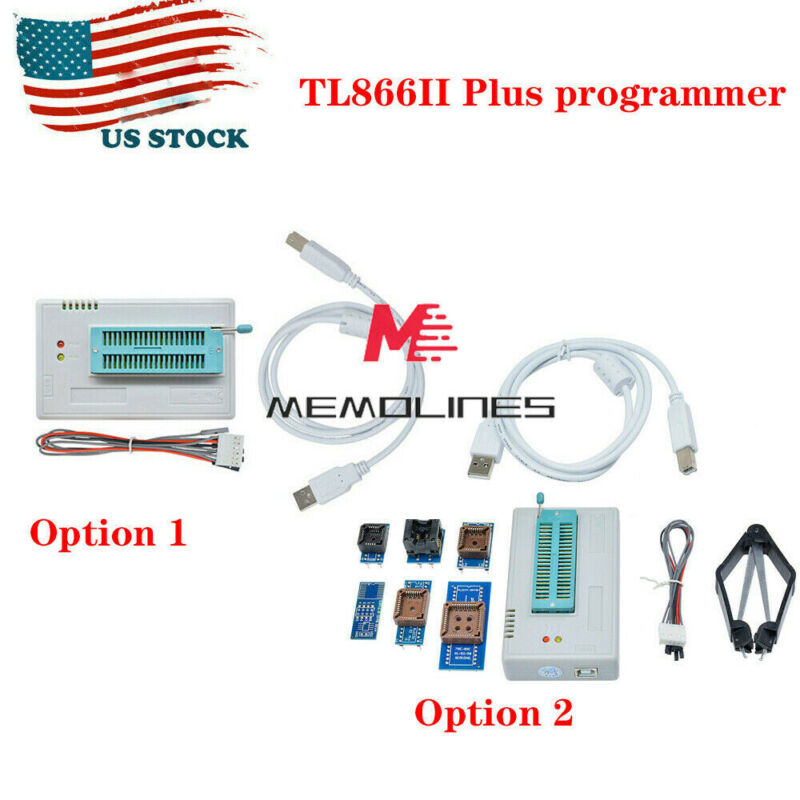 USB TL866II Plus Programmer EPROM EEPROM Flash MiniPro With 7 -28Expansion Board