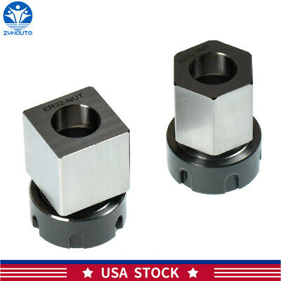 New Er-32 Square Hex Collet Block Chuck Holder For Cnc Lathe Engraving Machine