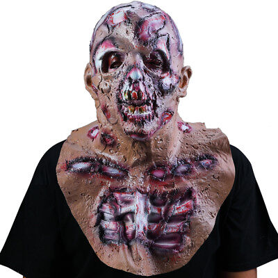 Halloween Mask Melting Face Latex Costume Dead Scary Head Masks Bloody 2018 New
