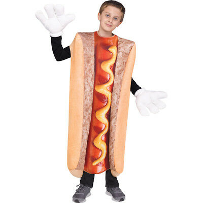 Kids Photo Real Hot Dog Costume up to size 14