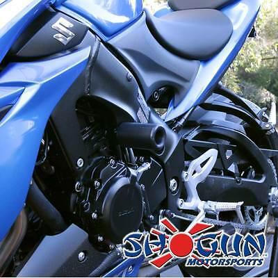 Suzuki 2016-2018 GSXS1000 GSXS1000F Shogun Frame Sliders - No Cut Version Black ()