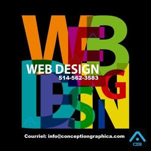 CONCEPTION SITE WEB - WEBSITE DESIGN - HÉBERGEMENT 1 AN GRATUIT. - 499-