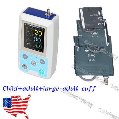 Us Fda 24h Nibp Holter Ambulatory Blood Pressure Monitor Sphygmomanometer3 Cuff