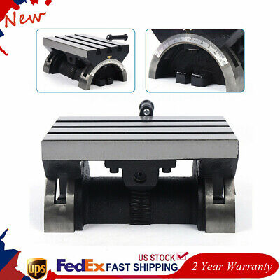 Adjustable Tilting Table Swivel Angle Plate Heavy Duty For Milling Machine Usa