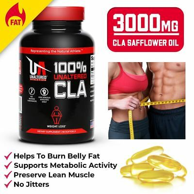 CLA SAFFLOWER OIL - Fat Burner Pills To Burn Belly Fat - LOSE WEIGHT FAST