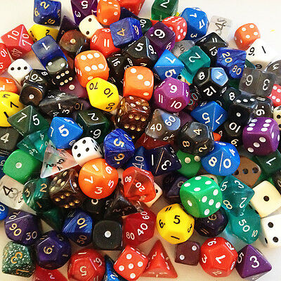 DICE - mixed bulk pack of dice - min 100 dice many types (some 2nds)