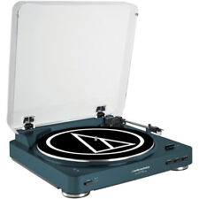 Audio-Technica AT-LP60-BT Automatic Bluetooth Belt-Drive Stereo Turntable - Navy