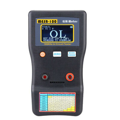 Lcd Professional Auto-ranging Capacitor Esr Meter 100khz In Circuit Tester V9v4