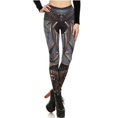 Girl Mechanic Costume (MECHANICAL Girls Womens 3D Printed Fitness Skinny Stretch Pants Legging)