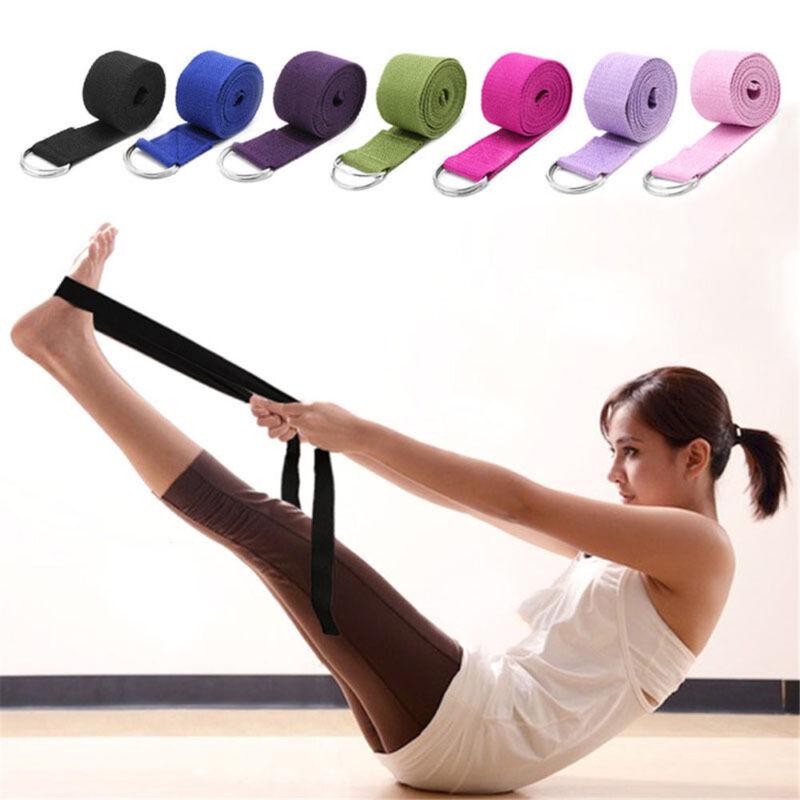 180CM Sport Yoga Stretch Strap Adjustable D-Ring Belt Gym Waist Leg Fitness HOT~