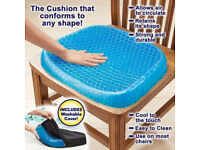 New Breathable Egg Sitting Gel Flex Cushion Seat Sitter Flex Pillow Pad Back Support BRAND NEW BOXED