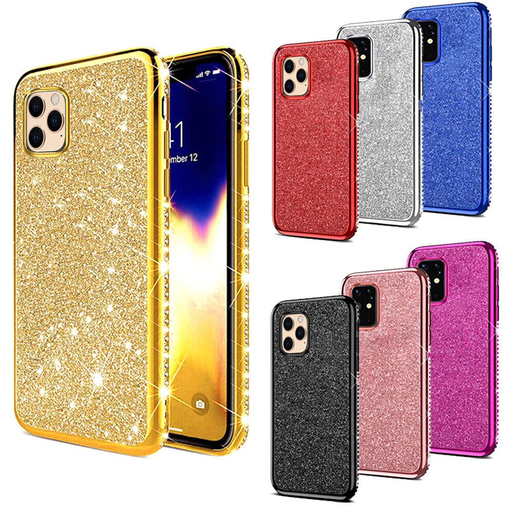 Für iPhone 11 / Pro / Max Glitzer Strass Slim Schutz Handy Hülle TPU Bling Case
