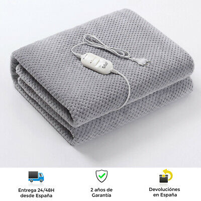 Manta calienta camas eléctrico de 150 x 80 cm - Lana de...
