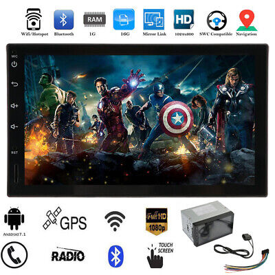 "NEW Android 7.1 WIFI 7""Double 2DIN Car MP5 Player Radio GPS Bluetooth Stereo WF"