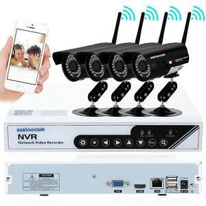 4 Kanal Videoüberwachung 720P HD H.264 DVR + 4 Außen Überwachungskamera SET C1B7
