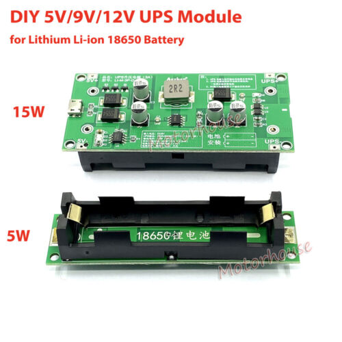 Lithium Li-ion 18650 Battery Charger 5V 9V 12V Converter UPS Power Supply Module