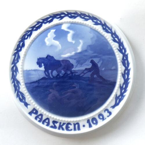 FACTORY FIRST QUALITY 1923 Bing & Grondahl EASTER (Paasken) PLAQUE, DENMARK