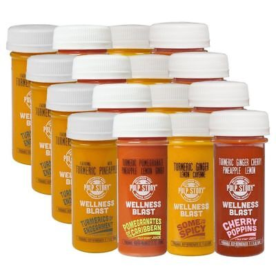PULP STORY Cleanse Pack Cold Pressed Turmeric Juice Multi Flavor Wellness Shots,
