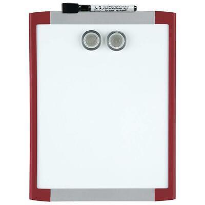 Quartet Magnetic Whiteboard 8-12 X 11 White Board Dry Erase Board Red