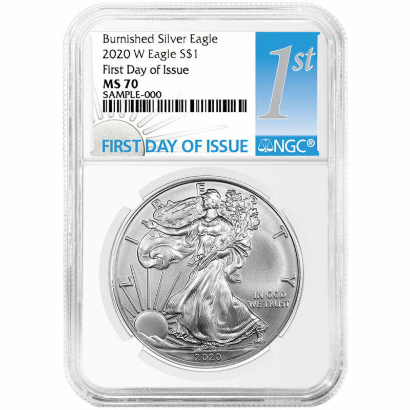 Presale - 2020-W Burnished $1 American Silver Eagle NGC MS70 FDI First Label