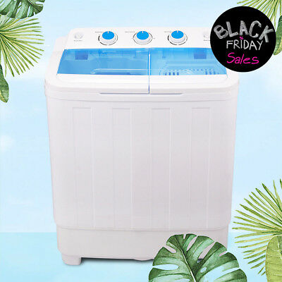 Mini Shirt-pocket Compact Washing Machine 17 lbs Twin Tub Laundry Washer Spin Dryer