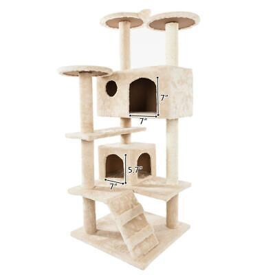 52 Cat Tree Activity Tower Pet Kitty Furniture With Scratching Posts Ladders - $49.49