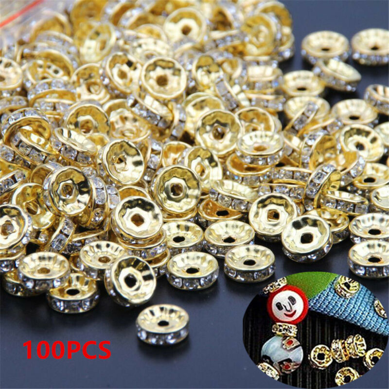 Tool Jewelry Making Cube Crystal Beads Bracelet Components Glass Spacer Beads