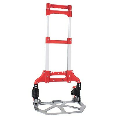 Red 40 Aluminum Folding Hand Truck Trolley Rolling Cart Holds Up To 150 Lbs