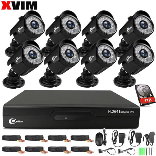 XVIM 4/8CH 1080P Home Security Camera System Outdoor IR Night Vision CCTV DVR