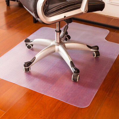 Office Chair Mat Hard Wood Floor Carpet Protector 45 X 53 Heavy Duty Vinyl Flat