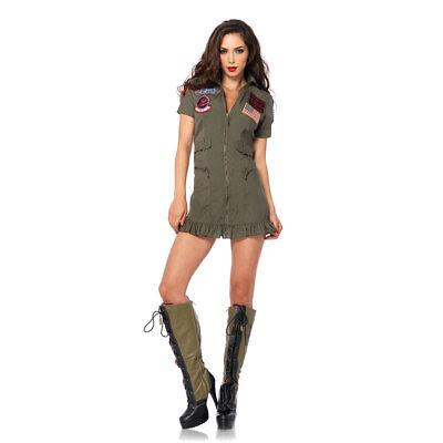 Top Gun Womens Flight Dress Halloween Costume