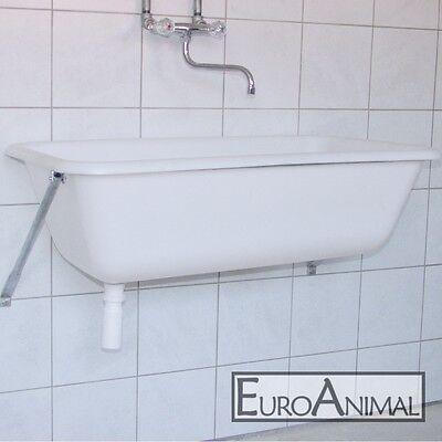 Spülwanne 65 Liter mit Wandkonsole Waschbecken Waschwanne Spülbecken