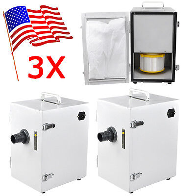 3 Usa Portable Dental Industry Digital Dust Collector Vacuum Cleaner 370w