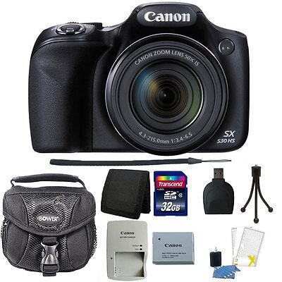Canon PowerShot SX530 HS 16MP 50x Zoom Wi-Fi Digital Camera + 32GB Accessory Kit