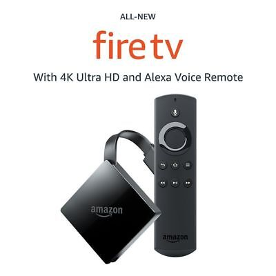 Amazon Fire Tv With 4K Ultra Hd And Alexa Voice Remote 2017   New In Box