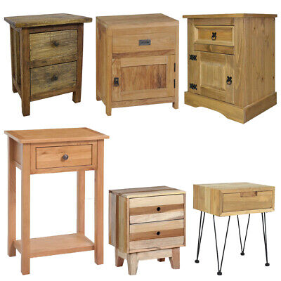 Wooden Nightstand Bedside Cabinet Console Table Telephone Desk Drawer Handmade ()