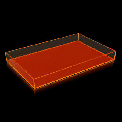 NEW! OnDisplay ELECTRIC NEON LUXE CLEAR ACRYLIC STACKABLE COSMETIC/JEWELRY TRAY (Acrylic Trays)