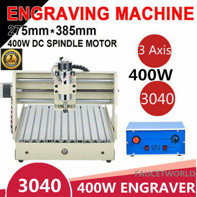3 Axis Cnc 3040 Router Engraver 3d Cutter Woodworking Milling Carving Machine