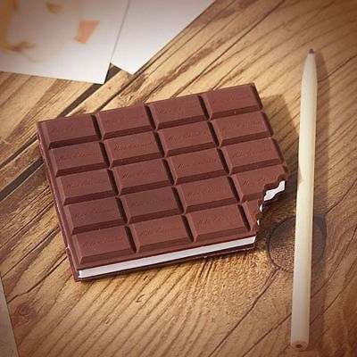 1pc Great Stationery Notebook Chocolate Memo Pad Diy Cover Notepad School Gift